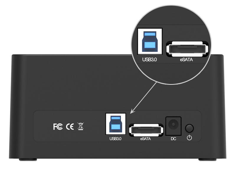 ORICO 6619US3-BK интерфейсы