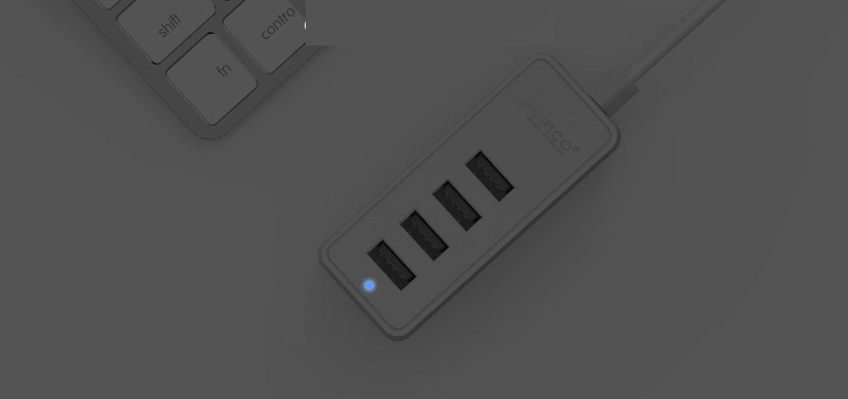 ORICO W5P-U2 светодиодная индикация работы