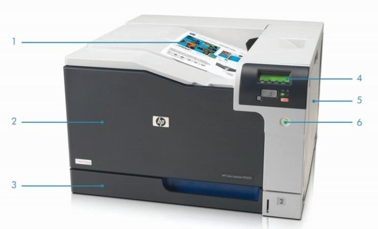 Внешний вид и основные компоненты лазерного принтера HP Color LaserJet Professional CP5225
