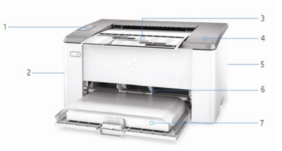 Внешний вид и основные компоненты лазерного принтера HP LaserJet Ultra M106w