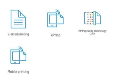 Основные преимущества струйного принтера HP PageWide 452dw