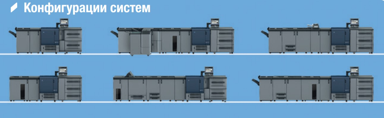 Конфигурация системы bizhub PRESS C71hc