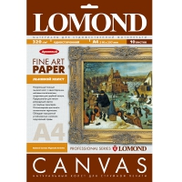 LOMOND 0908421 холст натуральный льняной А4 320 г/м2, 10 листов