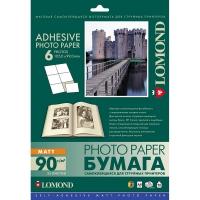 LOMOND 2210033 фотобумага самоклеющаяся матовая, 6 частей А4 (105 x 99 мм) 90 г/м2, 25 листов