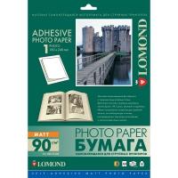 LOMOND 2212013 фотобумага самоклеющаяся матовая 1 часть А4 (180 x 240 мм) 90 г/м2, 25 листов