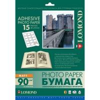 LOMOND 2212063 фотобумага самоклеющаяся матовая 15 частей А4 (40 x 50 мм) 90 г/м2, 25 листов