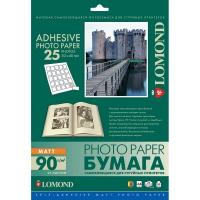 LOMOND 2212073 фотобумага самоклеющаяся матовая 25 частей А4 (30 x 40 мм) 90 г/м2, 25 листов