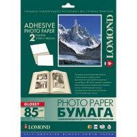 LOMOND 2410223 фотобумага самоклеющаяся глянцевая, 2 части А4 (210 x 148,5 мм) 85 г/м2, 25 листов