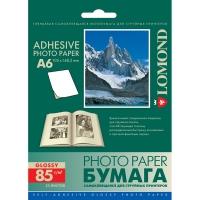 LOMOND 2413003 фотобумага самоклеющаяся глянцевая неделённая А6 (105 х 148,5 мм) 85 г/м2, 25 листов