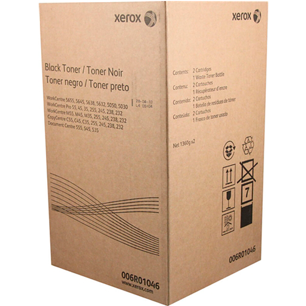 XEROX 006R01046 тонер-картридж  WorkCentre 5030, 5050, 5632, 5638, 5645, 5655, 5735, 5740, 5745, 5755, 5765, 5775, 5790, 232, 238, 245, 255, M35, M45, M55, C35, C45, C55, Document Centre 535, 545, 555 (2 шт. x 28 000 стр)
