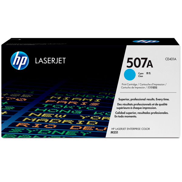 HP 507A, CE401A картридж голубой для LaserJet Enterprise M551, M570, M575 (6000 стр)