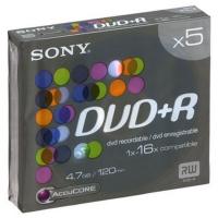 SONY DVD+R диск 16x Slim Case 5 шт, 5DPR120BSLX