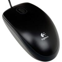 LOGITECH B100 (910-003357) мышь проводная оптическая, 800dpi, черная, USB