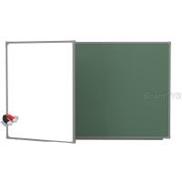 Доска комбинированная BoardSYS 2 элементная 100 х 255 см, металлический профиль