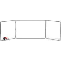 Доска магнитно-маркерная BoardSYS 3 элементная 120 х 500 см, алюминиевый профиль