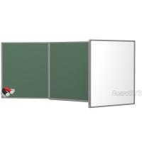 Доска комбинированная BoardSYS 3 элементная 120 х 500 см, алюминиевый профиль
