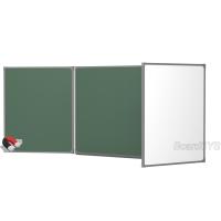 Доска комбинированная BoardSYS 3 элементная 120 х 300 см, металлический профиль