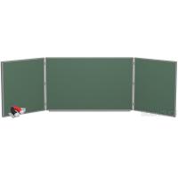 Доска магнитно-меловая BoardSYS 3 элементная 100 х 400 см, алюминиевый профиль