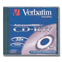 VERBATIM CD-RW 700 Мб диск 32x Jewel Case 1 шт, 43244