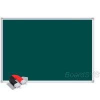 Доска магнитно-меловая BoardSYS 1 элементная 100 х 200 см, алюминиевый профиль