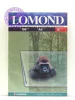 LOMOND 0708441 плёнка прозрачная с бумажной подложкой по короткой стороне А4, 100 мкм, 10 листов