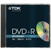 TDK DVD+R диск 16x Jewel Case 1 шт, DVD+R47MED/MED5P