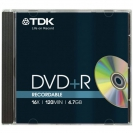 TDK DVD+R диск 16x Printable Jewel Case 1шт, DVD+R47PWWED-D