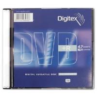 DIGITEX DVD-R диск 16x Slim Case 5 шт, DVD-R47B16-ST1