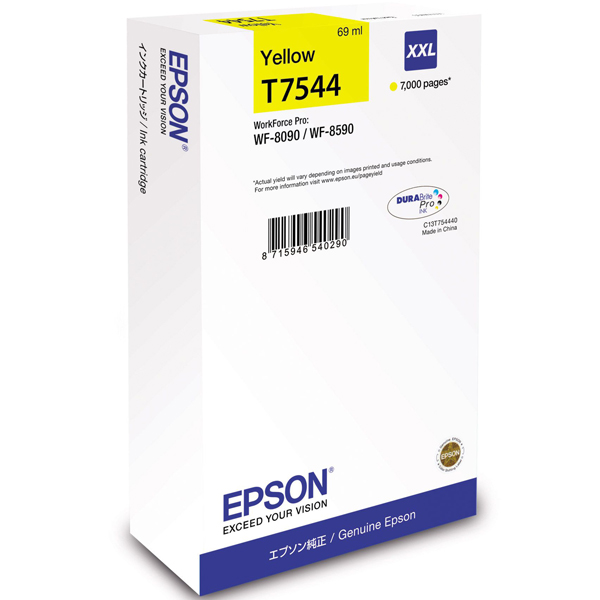EPSON C13T754440 картридж жёлтый для WorkForce Pro WF-8090DW, WF-8590DWF (7 000 стр)