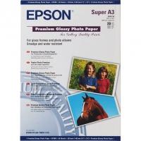 EPSON C13S041316 фотобумага глянцевая А3+ (329 x 483 мм) 255 г/м2, 20 листов