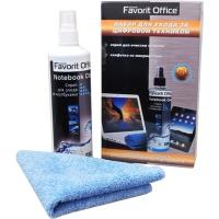 """FAVORIT OFFICE """"Notebook Clean Complete"""" набор для очистки чувствительных поверхностей техники (спрей 50 мл и салфетка микрофибра 18"""