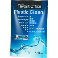 """FAVORIT OFFICE """"Plastic Clean"""" запасной блок к универсальным влажным салфеткам 100 салфеток, F230008"""