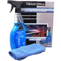 FAVORIT OFFICE набор для ухода за экранами LCD, LED, OLED, PLASMA (чистящее средство 500 мл + салфетка из микрофибры) F150387