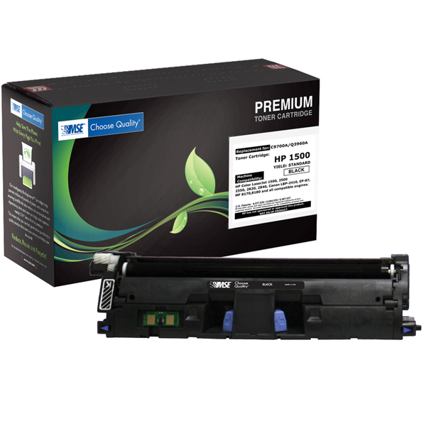 HP 121A, C9700A/122A, Q3960A, картридж (Black, 5000 стр) MSE Re-Engineered