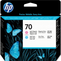 HP 70, C9405A печатающая головка светло-пурпурная и светло-голубая