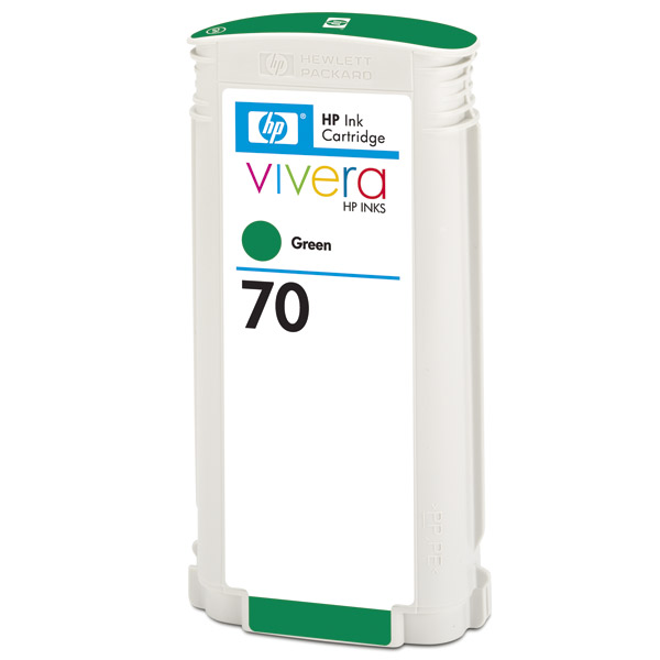 Картридж HP 70, CB348A Twin Pack Green (C9457A, зелёный, 2 шт. x 130 мл) для Designjet Z3100, Z3200