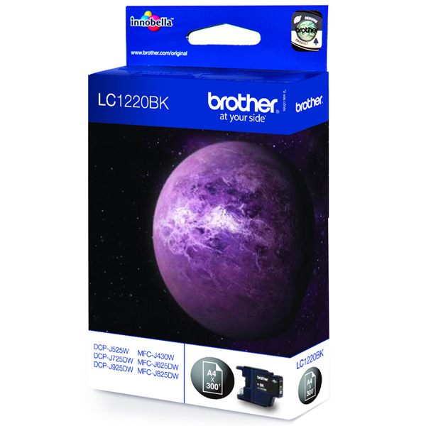 BROTHER LC1220BK картридж для DCP-J525W, MFC-J430W, MFC-J825DW (чёрный, 300 стр)