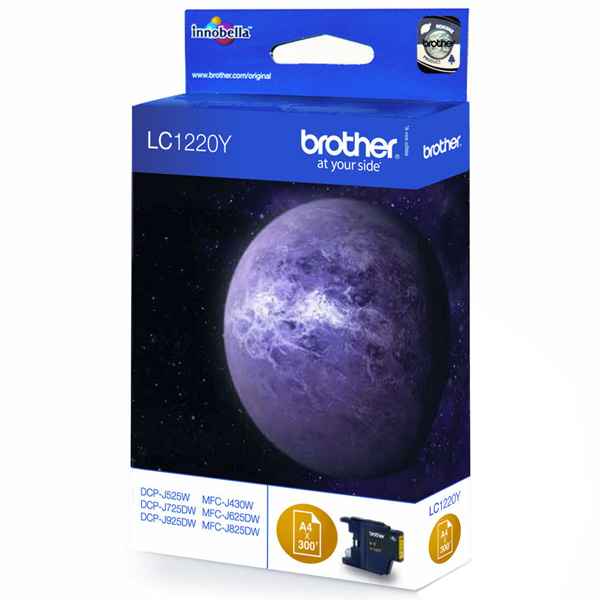 BROTHER LC1280XL-Y картридж для MFC-J5910DW, MFC-J6510DW, MFC-J6910DW (жёлтый, 1200 стр)