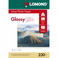 LOMOND 0102070 фотобумага глянцевая А5 (21,0х14,8 см) 230 г/м2, 50 листов