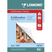 LOMOND 0809414 бумага сублимационная матовая липкая А4, 90 г/м2, 100 листов