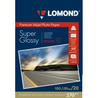 LOMOND 1106102 фотобумага суперглянцевая А6 (10 х 15 см) 270 г/м2, 20 листов