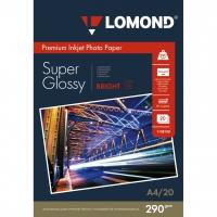 LOMOND 1108100 фотобумага суперглянцевая А4, 290 г/м2, 20 листов