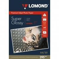 LOMOND 1108101 фотобумага суперглянцевая А4, 295 г/м2, 20 листов