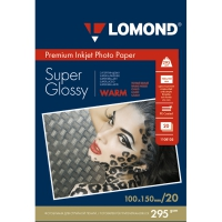 LOMOND 1108103 фотобумага суперглянцевая А6 (10 x 15 см) 295 г/м2, 20 листов