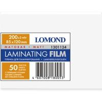 LOMOND 1301124 плёнка матовая 85 х 120 мм, 200 мкм, 25 пакетов (50 листов)