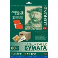 LOMOND 2110225 бумага самоклеющаяся красная, 2 части А4 (210 x 148,5 мм) 80 г/м2, 50 листов