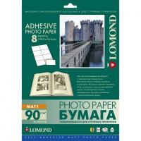 LOMOND 2212053 фотобумага самоклеющаяся матовая 8 частей А4 (60 x 90 мм) 90 г/м2, 25 листов