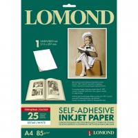 LOMOND 2410003 фотобумага самоклеющаяся глянцевая неделённая А4, 85 г/м2, 25 листов