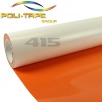 POLI-FLEX Premium 415 Orange термотрансферная плёнка матовая самоклеющаяся полиуретановая 0,5 м, 100 мкм, 25 метров