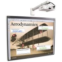 """SMART Board 480 (NB2011) интерактивная доска 78"""" дюймов с проектором V30 и настенным креплением к проектору"""